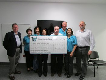 The SOC Golf Committee were very happy to donate $10,000 raised from their 2013 Charity Golf Day followed by a second donation of $20,000 from the 2014 Golf day to the Calvary Mater Physiotherapy Department which provide financial support  to patients for the ongoing purchase of pressure bandages.